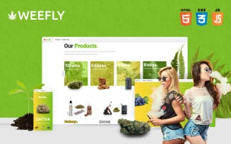 Weefly | Multipurpose Cannabis and Marijuana Shop Website Template