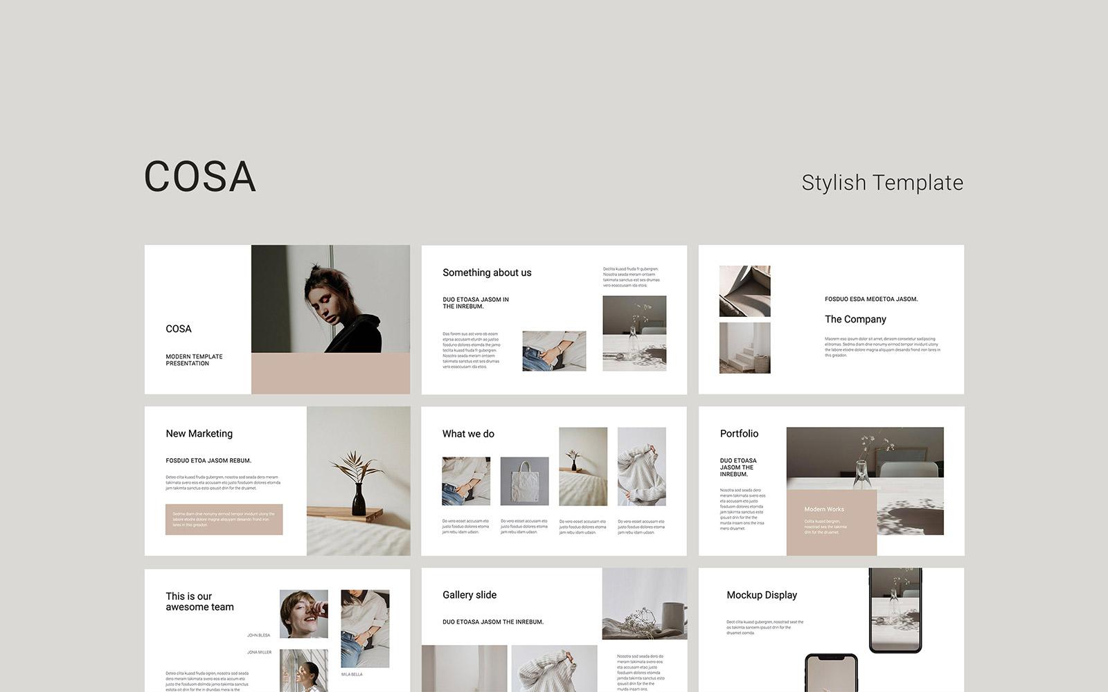 """COSA - Presentation"" PowerPoint 模板 #109634"