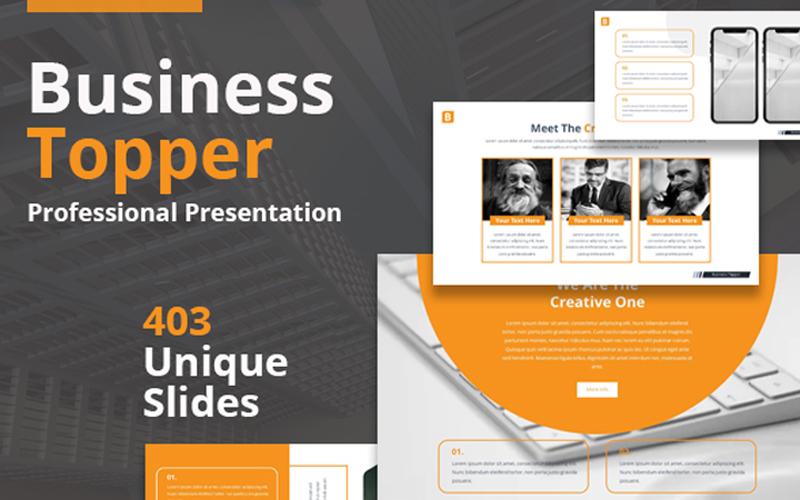 "Modello PowerPoint #109628 ""Business Topper"""