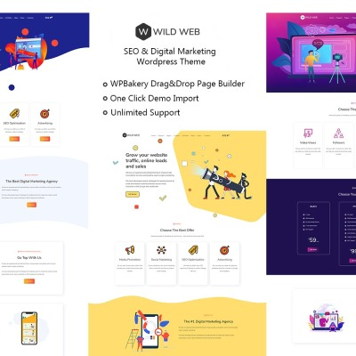 WildWeb — Seo & Marketing Agency WordPress Theme #109621