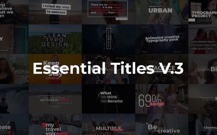 Essential Titles V.3 Motion Graphics Template