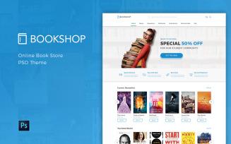 Bookshop - Online Book Store PSD Template