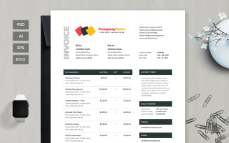 Professional and Clean Invoice
