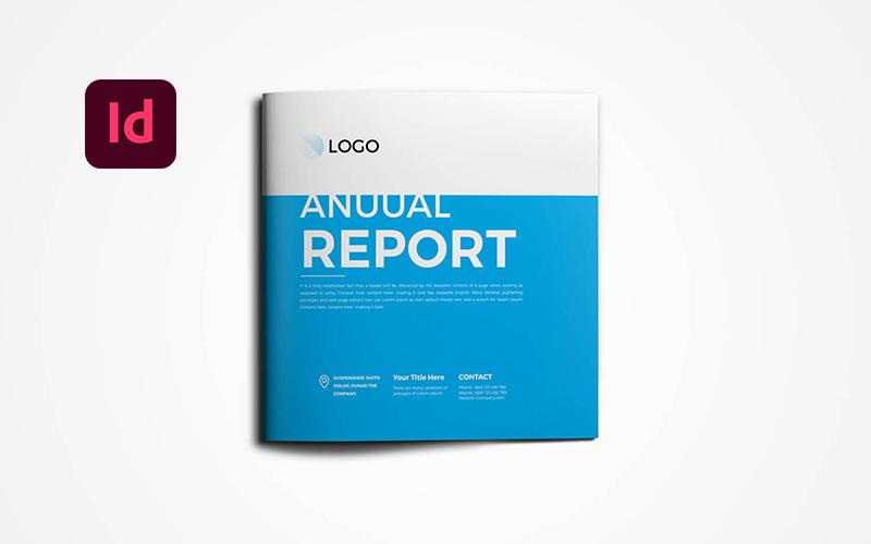 Square Annual Brochure Corporate Identity Template