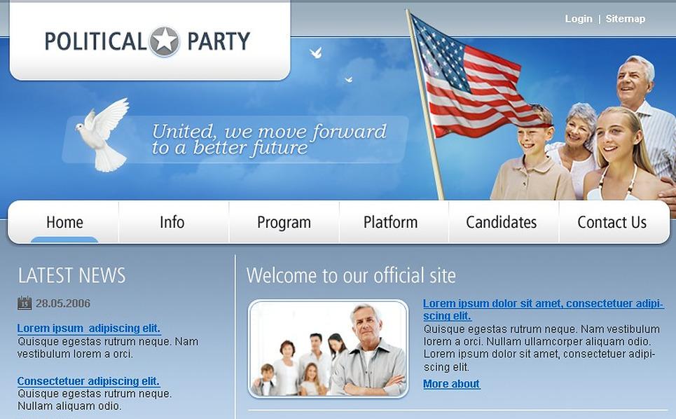 Tema siti web per un sito di partito politico for Siti web di home plan