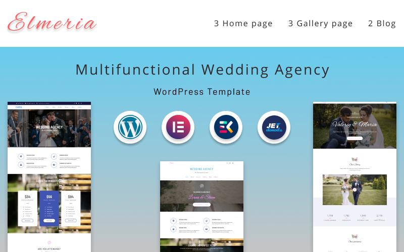 Elmeria | Multifunctional Wedding Agency WordPress Theme