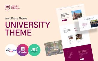American State University - University WordPress Theme