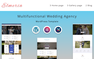 Elmeria | Multifunctional Wedding Agency WordPress Theme