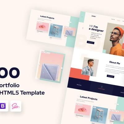 Lintense Personal Portfolio - Web Designer HTML Landing Page Template #110019