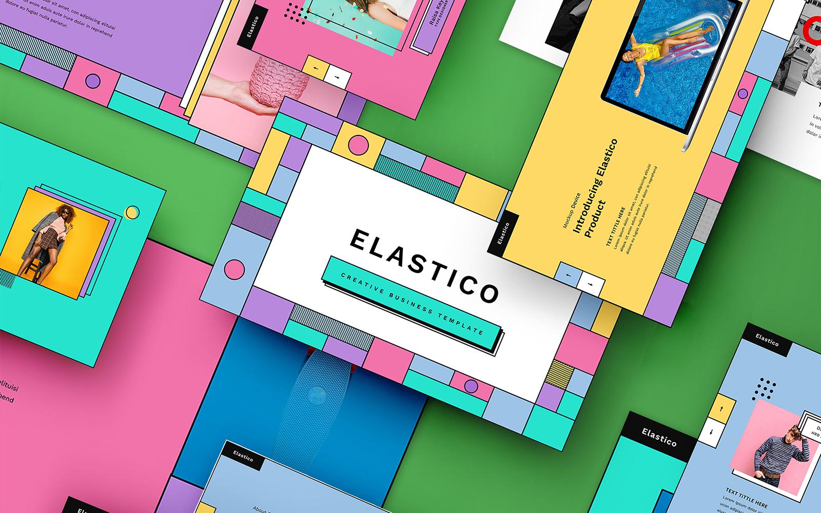 "Modello Google Slides #110093 ""Elastico – Creative Business"""