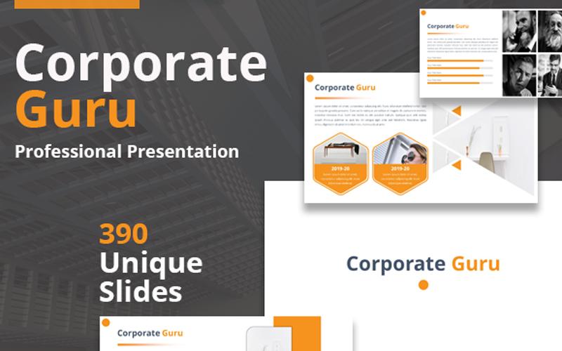 Szablon PowerPoint Corporate Guru Presentation #110081