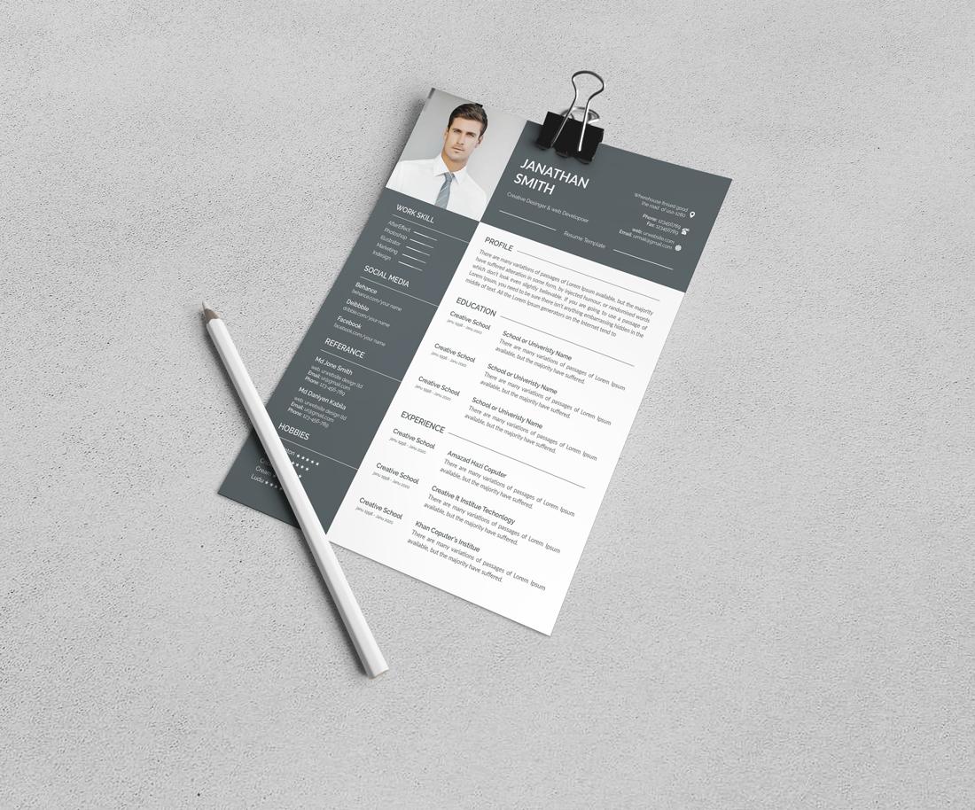 Szablon resume Corporate #110097