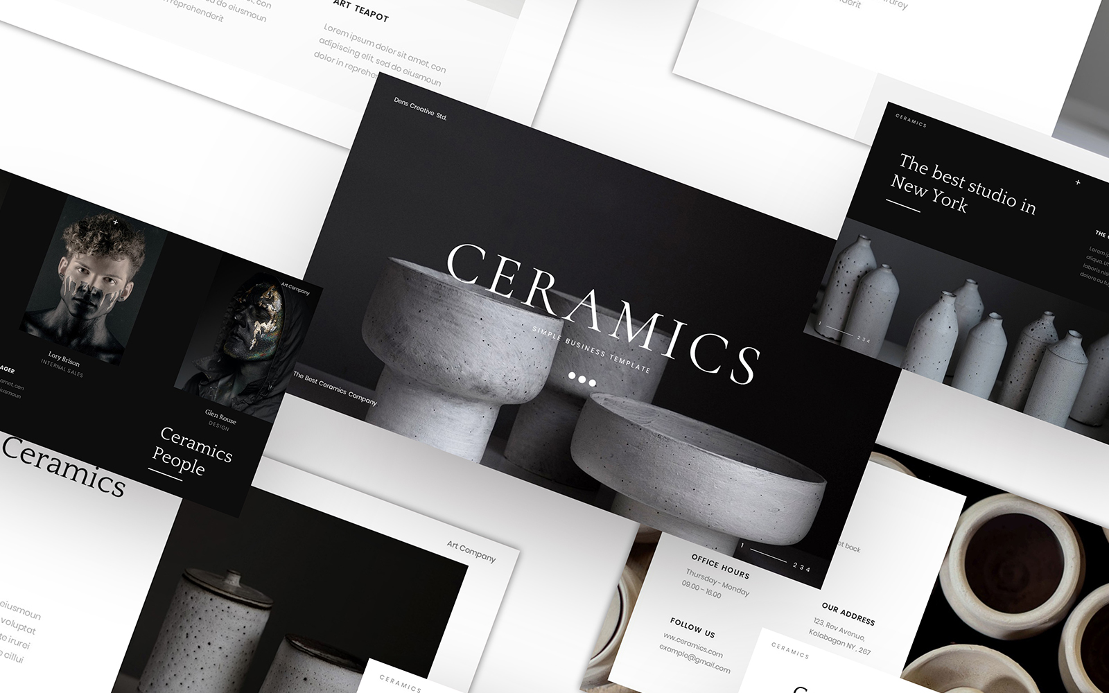 "Tema PowerPoint #110082 ""Ceramics – Simple Business"""