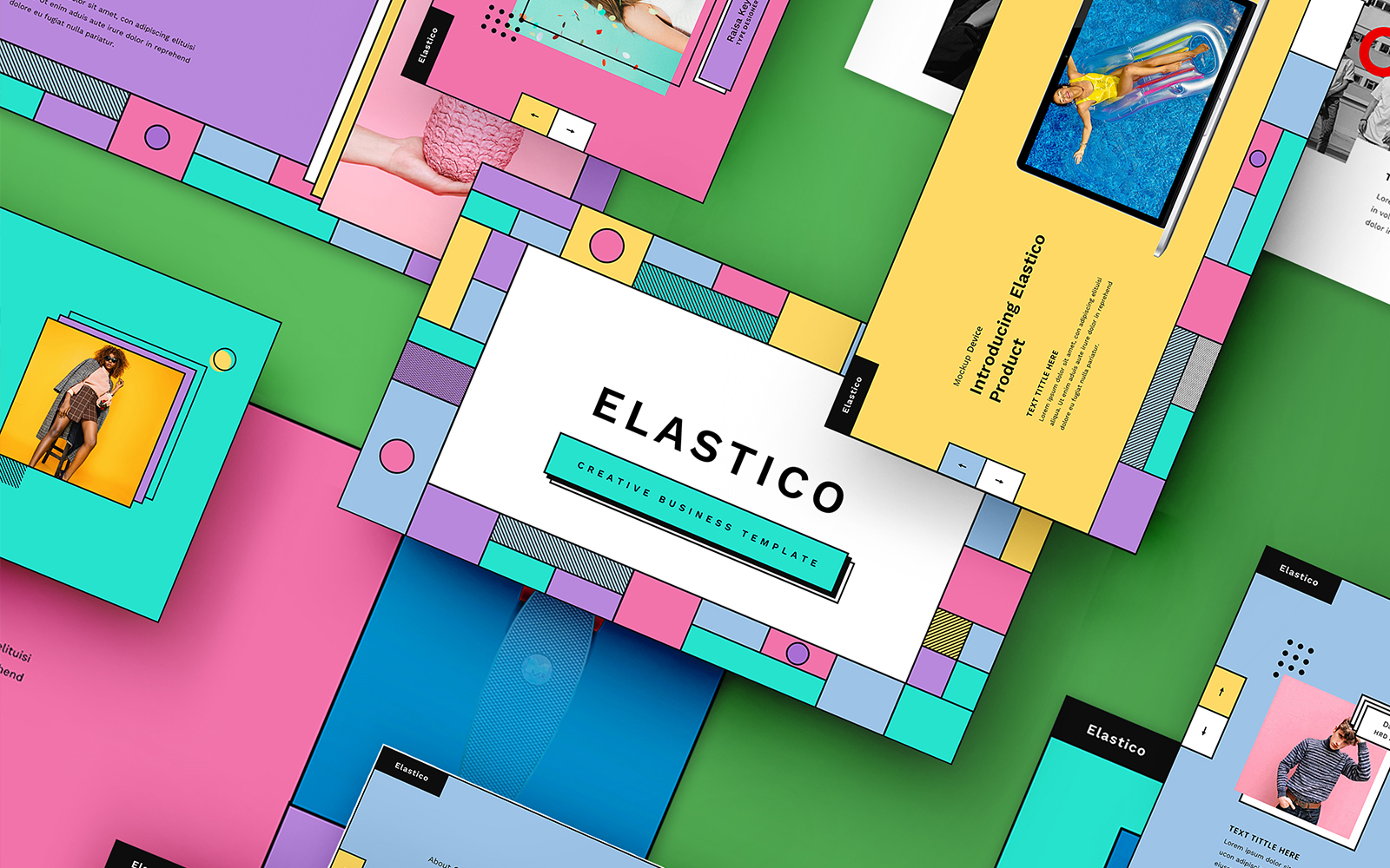 "Tema PowerPoint #110088 ""Elastico – Creative Business"""
