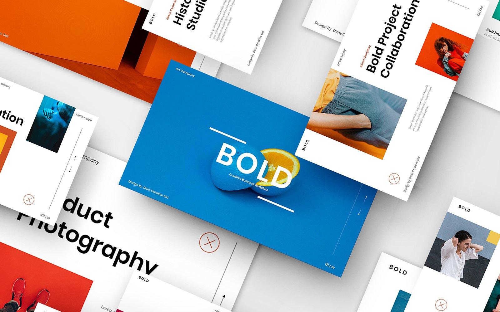 "Template Google Slides #110092 ""Bold – Creative Business"""