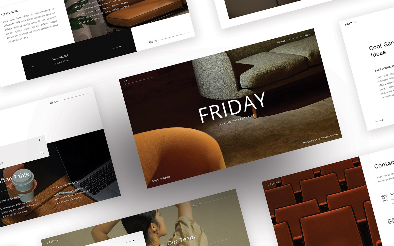 """Template Google Slides #110095 """"Friday – Simple Business"""""""