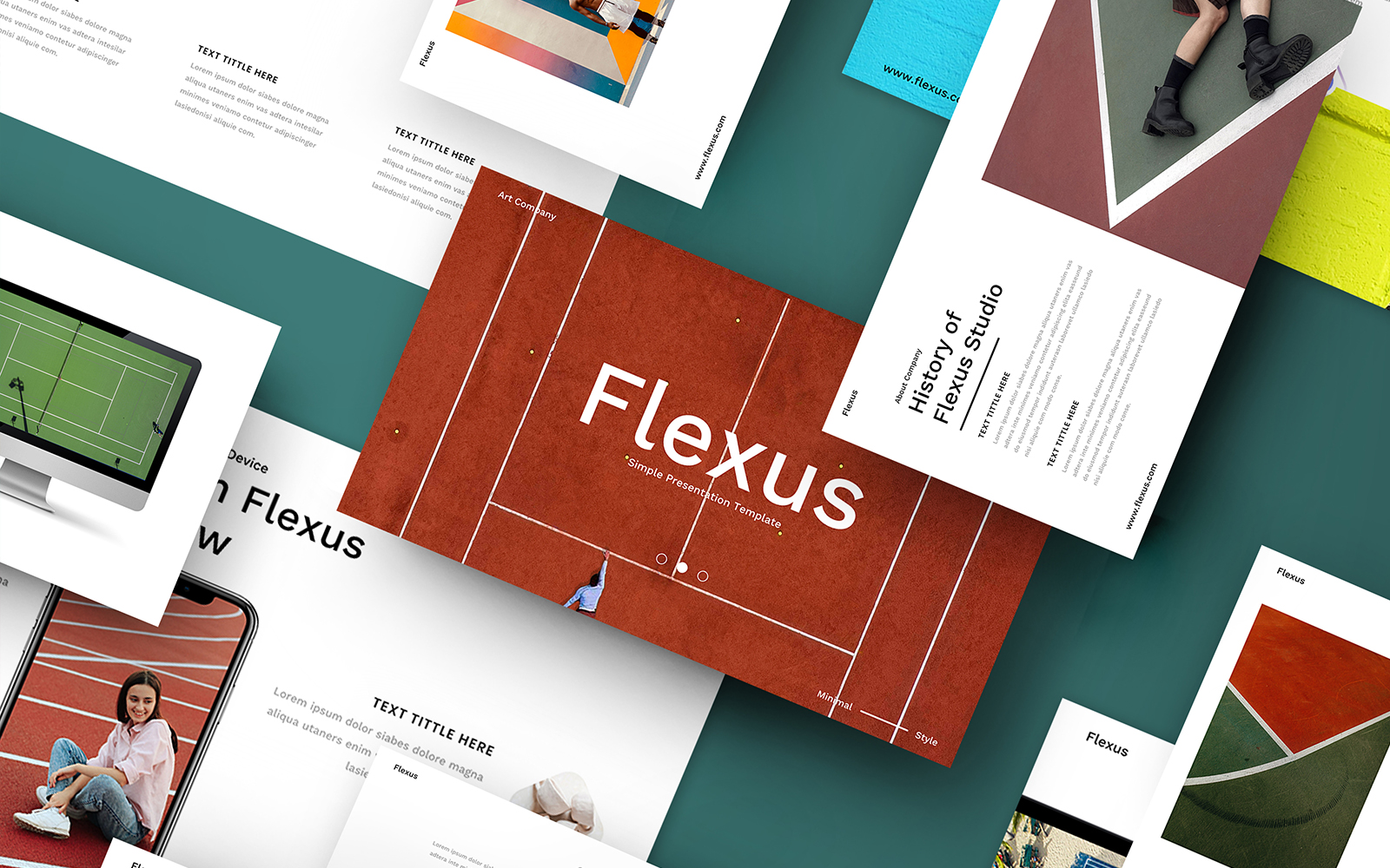 "Template PowerPoint #110089 ""Flexus – Creative Business"""