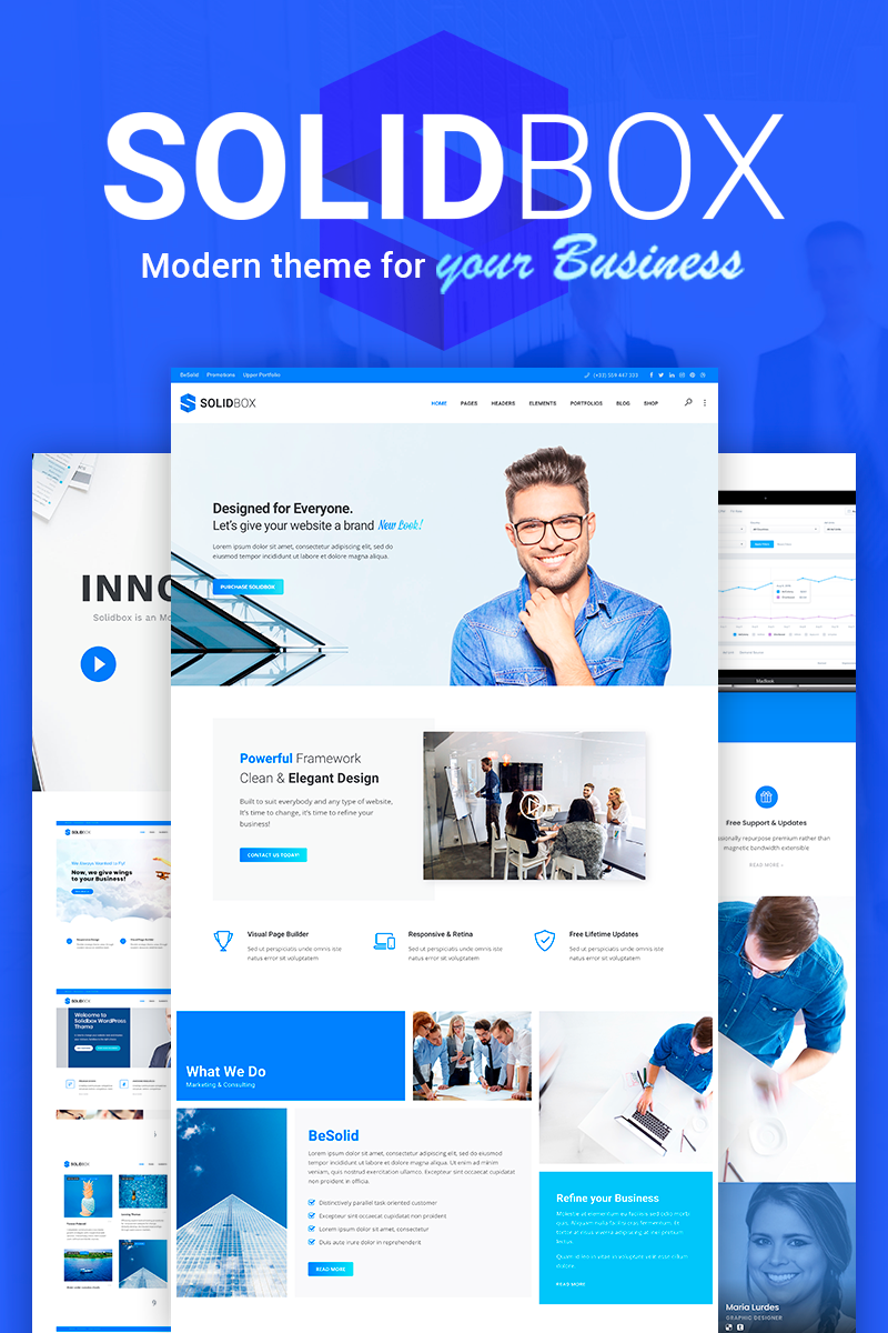 SolidBox - Modern Business WordPress Theme