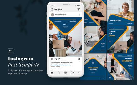Elegant Education Instagram Post Template Vol.1 Social Media