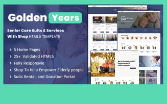 Golden Years - Senior Suits & Services Website Template