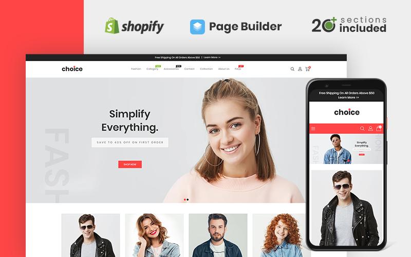 Responsywny szablon Shopify Choice Fashion Store #110123