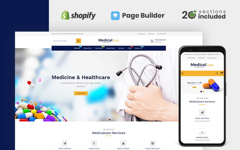 Responsywny szablon Shopify Medical Care Health&Medicine Store #110120