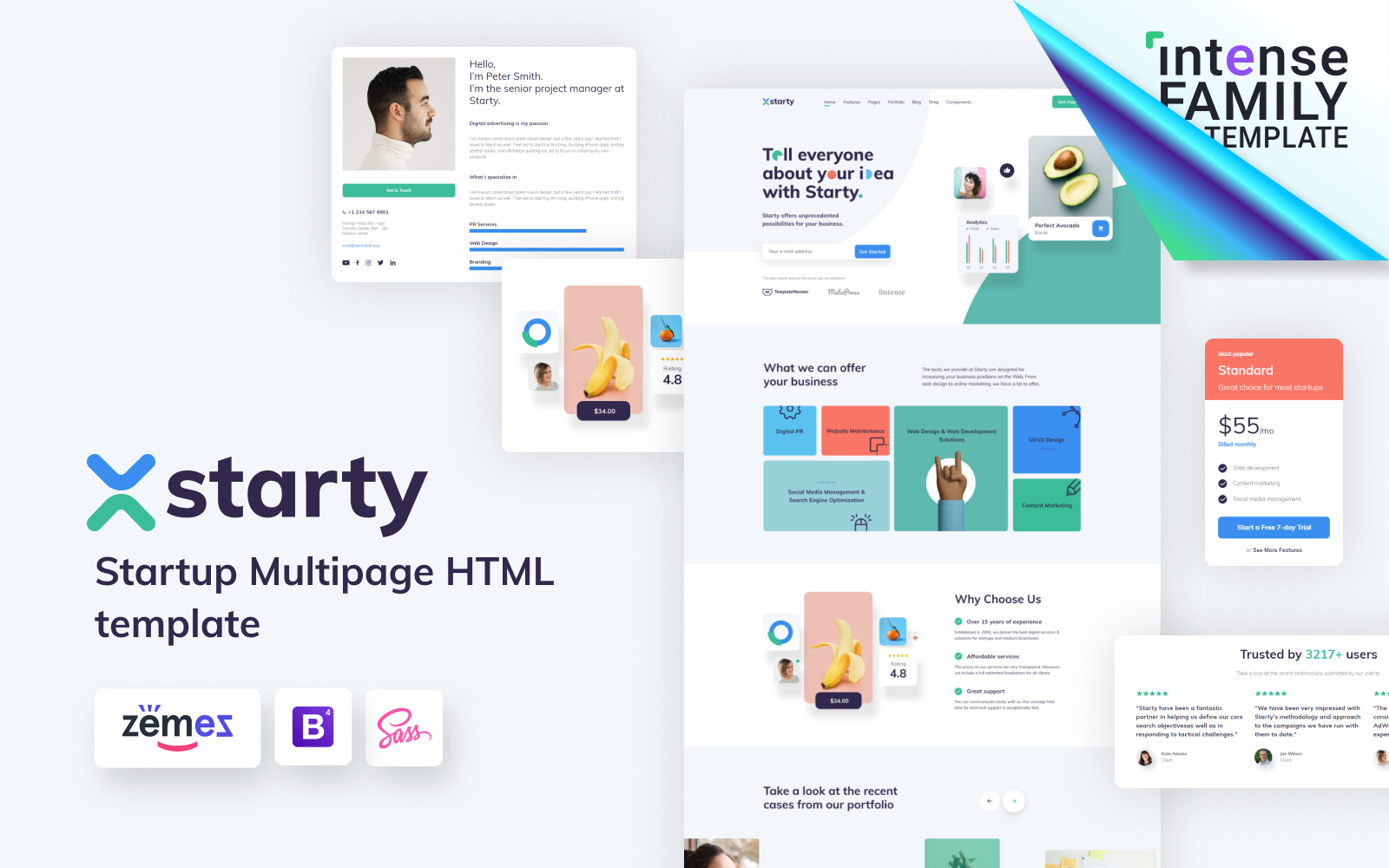 Starty - IT Startup Company Template Web №110138