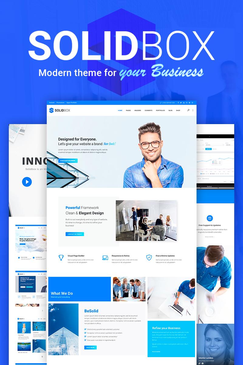 "Tema WordPress Responsive #110136 ""SolidBox | Clean Modern Business"""