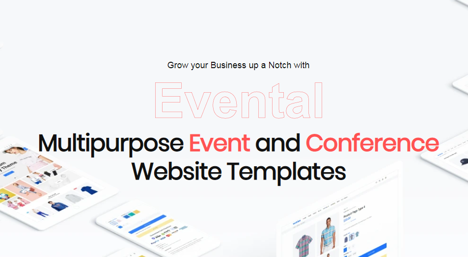 """Template di Landing Page Bootstrap #110128 """"Evental - Event & Conference"""""""