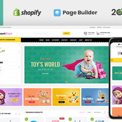 """Template Shopify Responsive #110122 """"Smart Toys Store"""" #110122"""