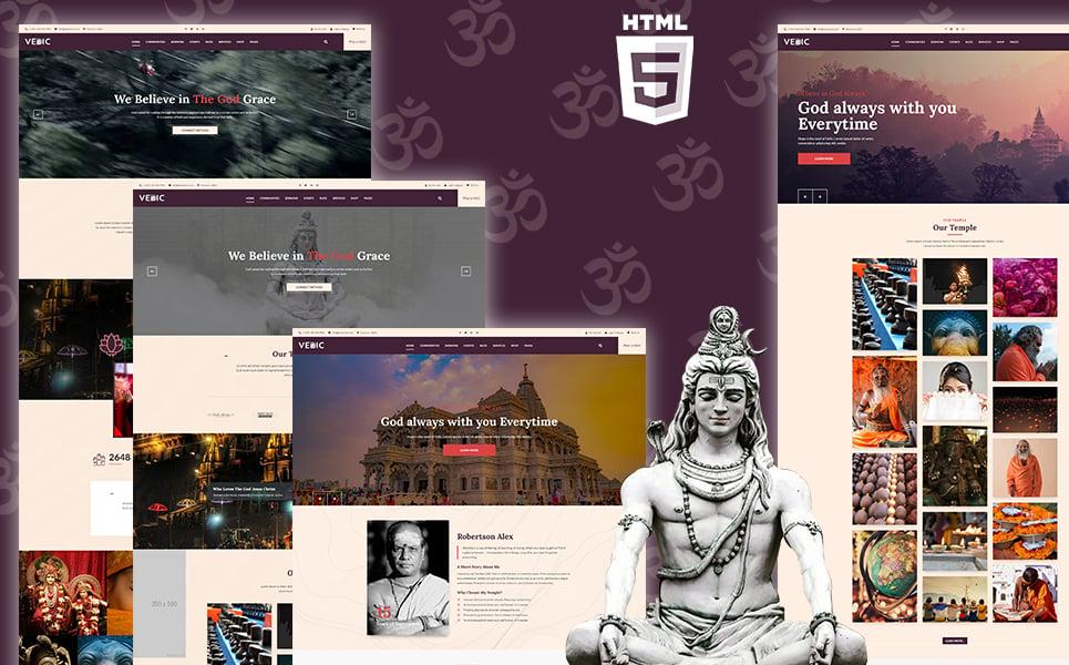"Template Siti Web Responsive #110131 ""Vedic - Hindu Temple"""
