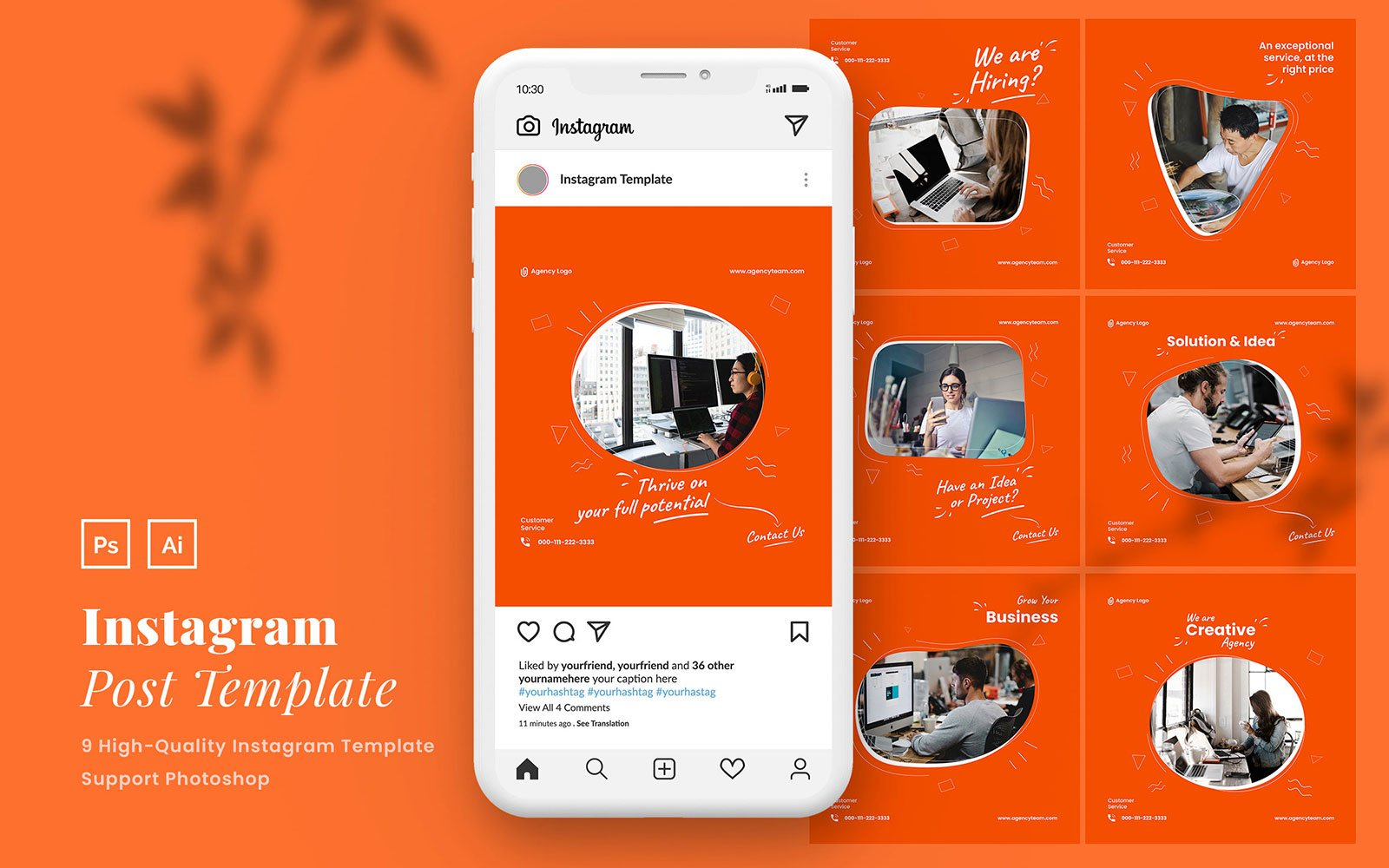 "Template Social Media #110140 ""Creative Agency Instagram Post PSD Template"""