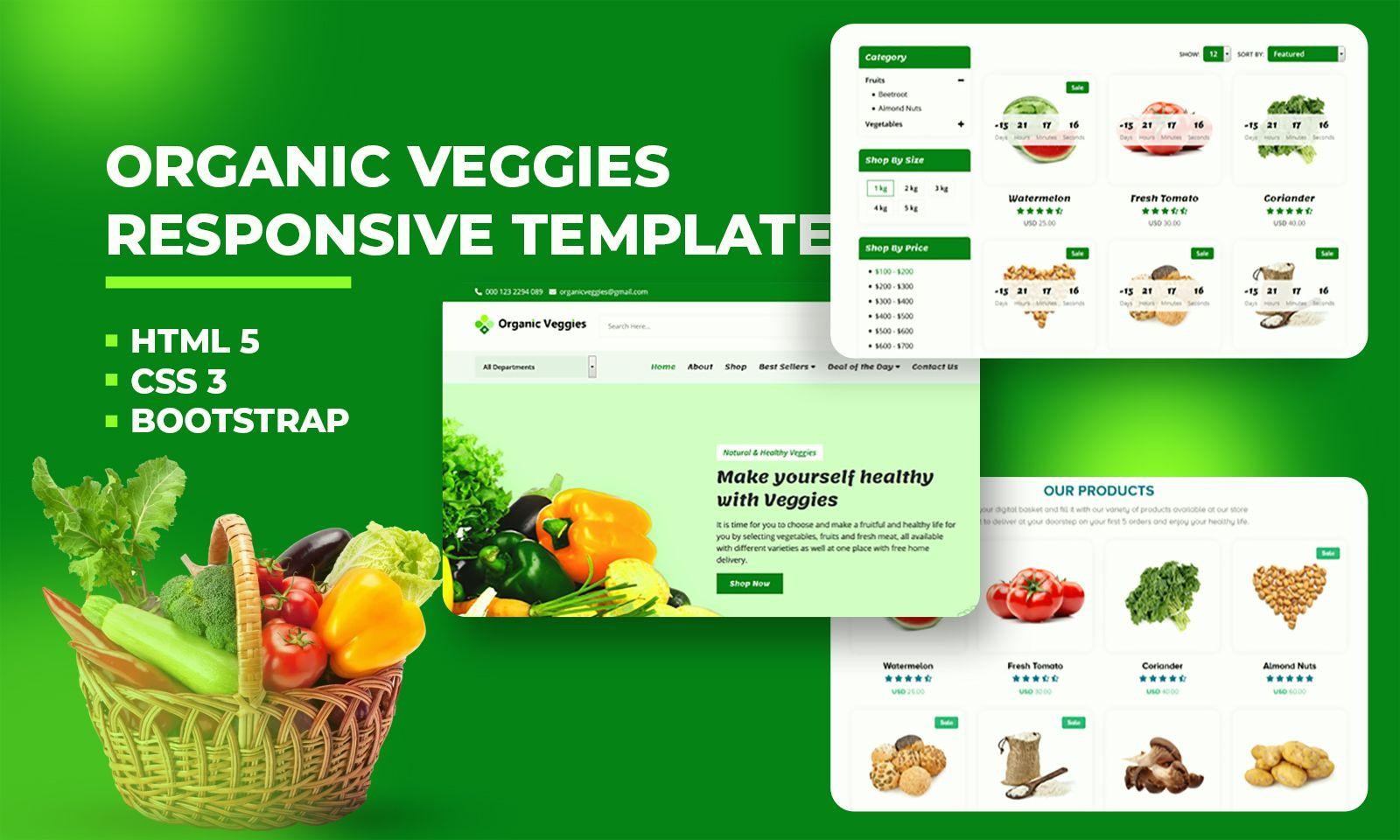 "Website Vorlage namens ""Organic Grocery Store"" #110133"