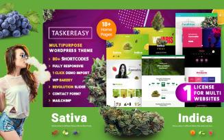 Taskereasy Cannabis Multipurpose WordPress Theme