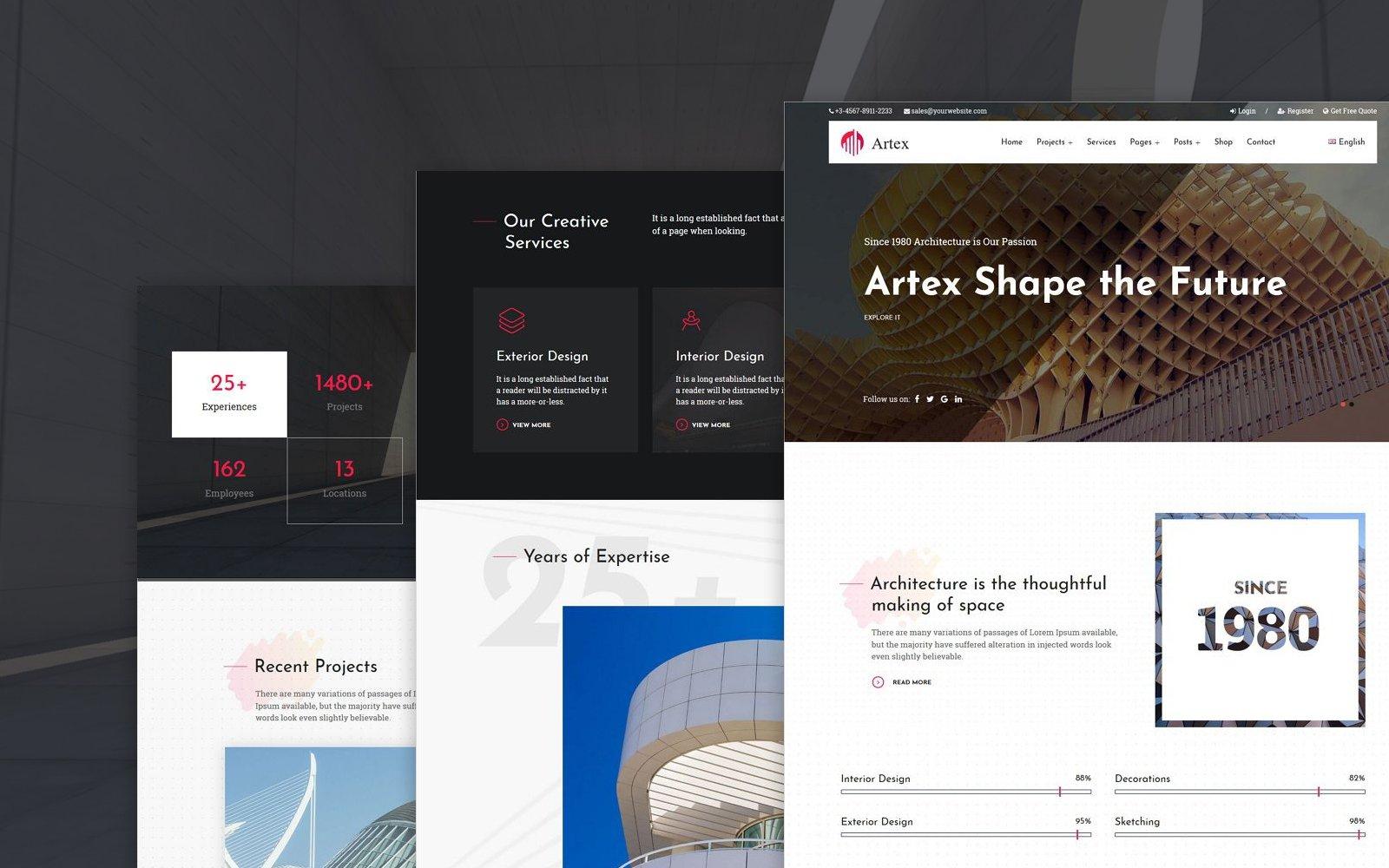 Artex - Architecture, Interior Design & Construction WordPress Theme