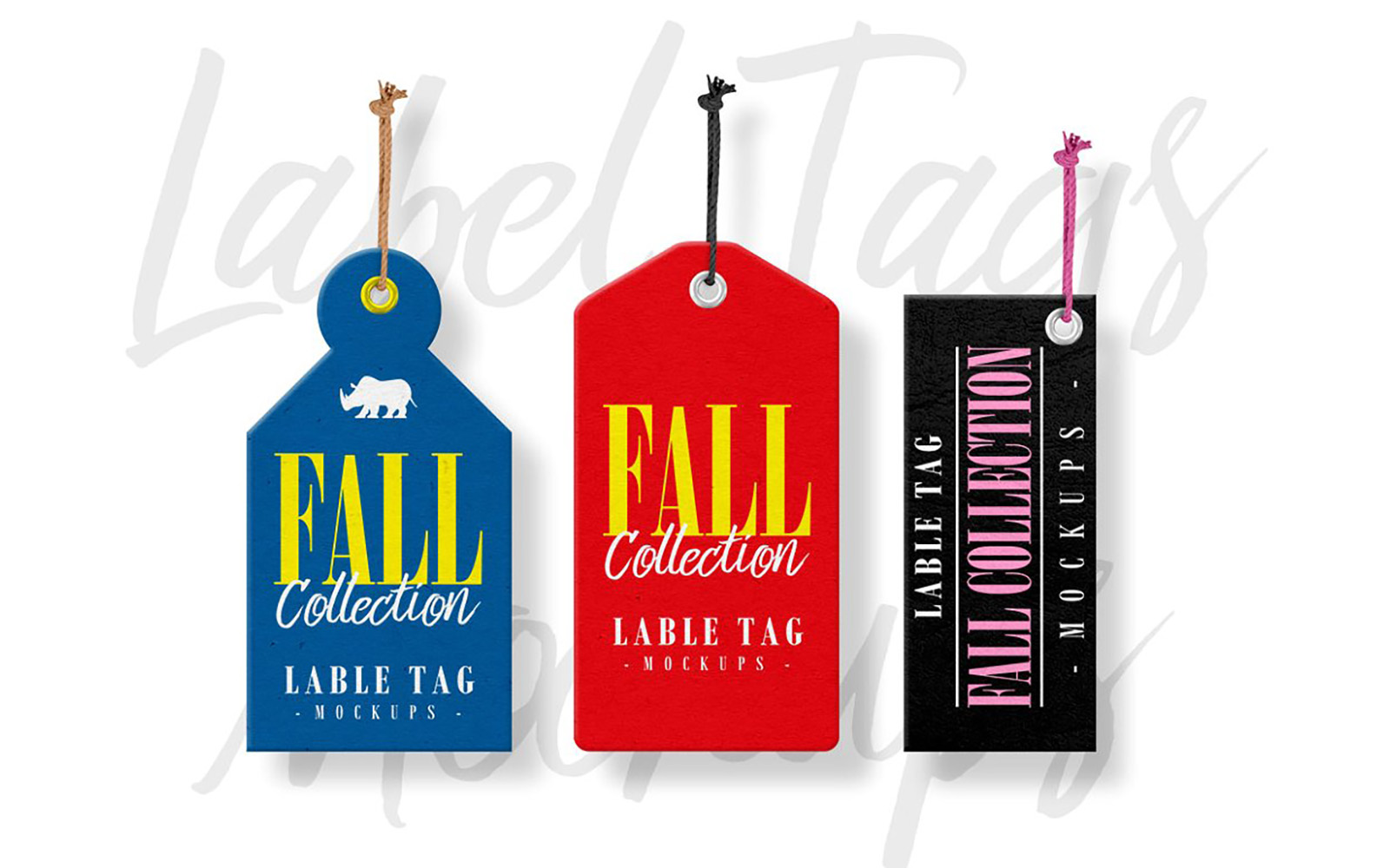 Label Tags Product Mockup