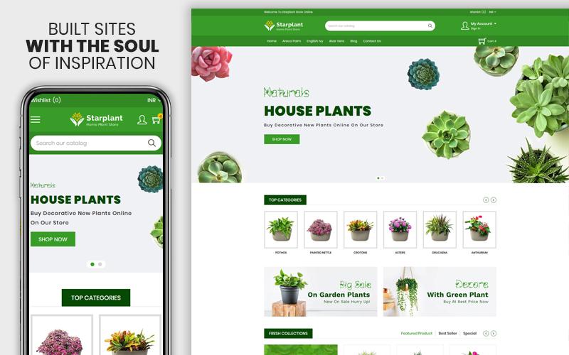 """Modello Shopify Responsive #110273 """"Starplant - The Plant Responsive"""""""