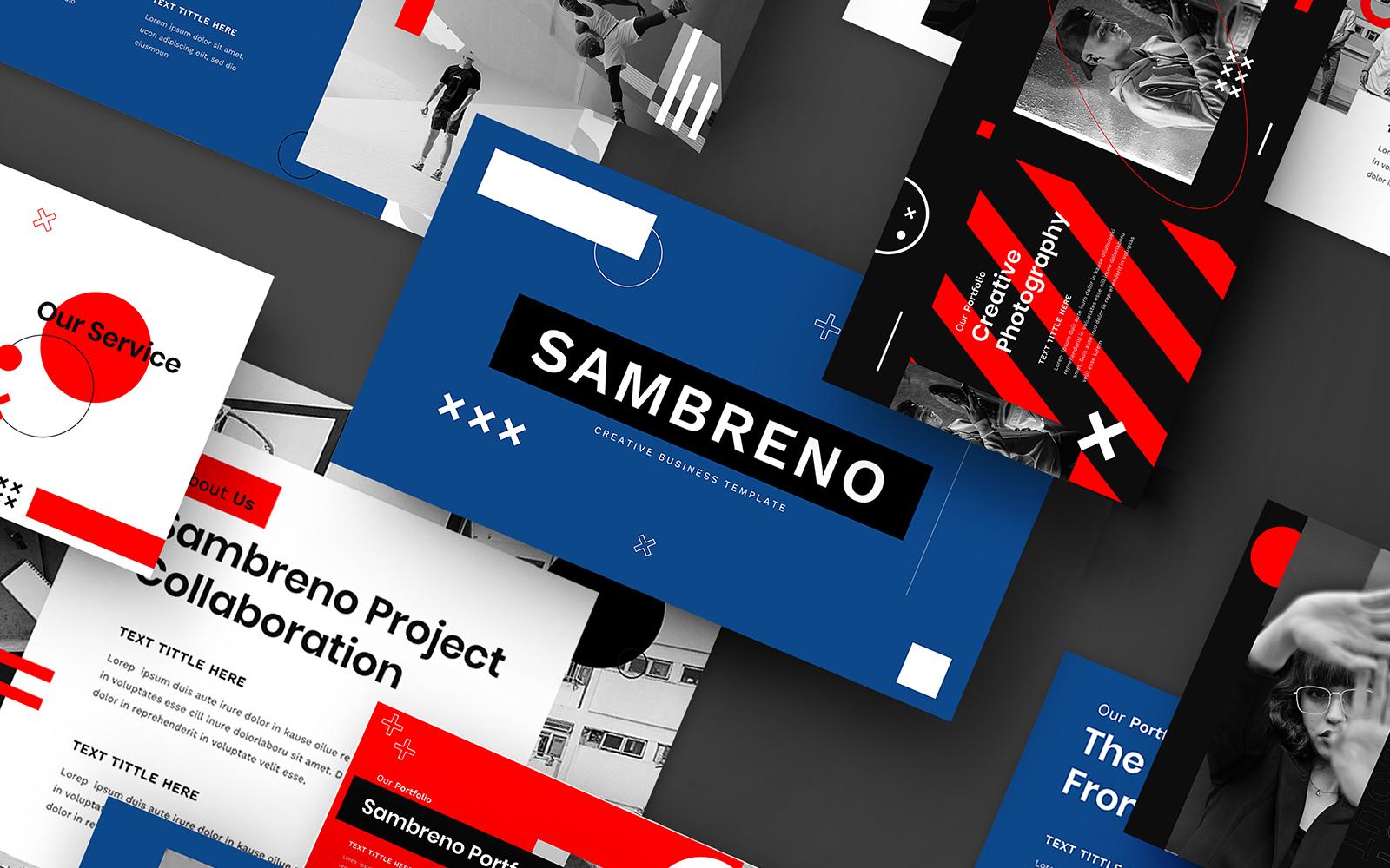 "Template Google Slides #110284 ""Sambreno – Creative Business Template"""