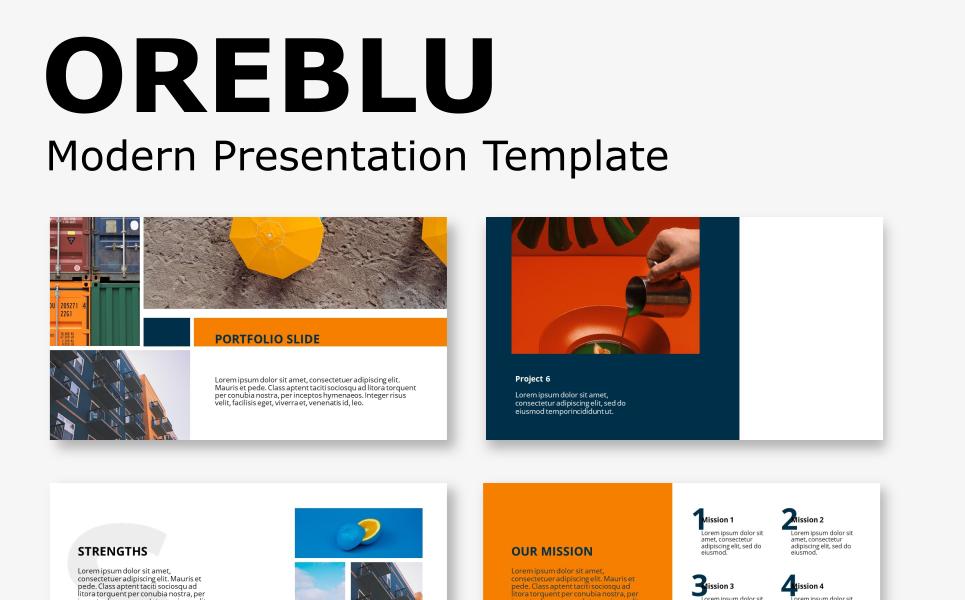 Oreblu - Modern Presentation PowerPoint Template