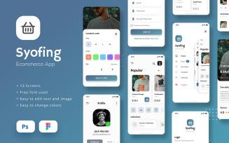E-Commerce iOS App UI Figma and PSD Template UI Elements