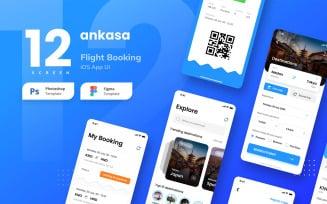 Flight Booking iOS App UI Figma and PSD