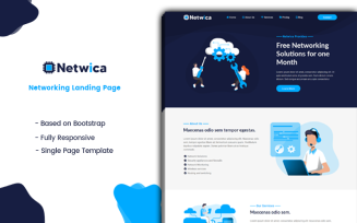 Netwica - Networking Landing Page Template
