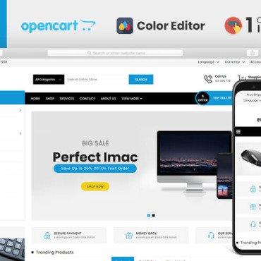 Купить  пофессиональные OpenCart шаблоны. Купить шаблон #110433 и создать сайт.