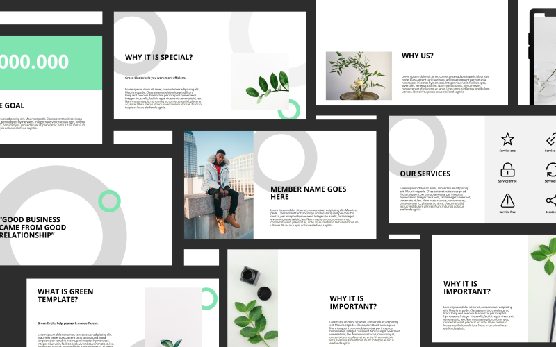 Green Presentation PowerPoint Template