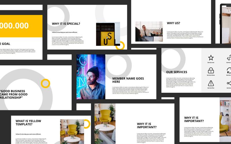 Yellow Presentation PowerPoint Template