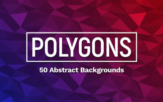 50 Polygons Backgrounds Pattern