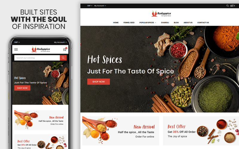 Redspice - The Hot Spice Responsive №110424