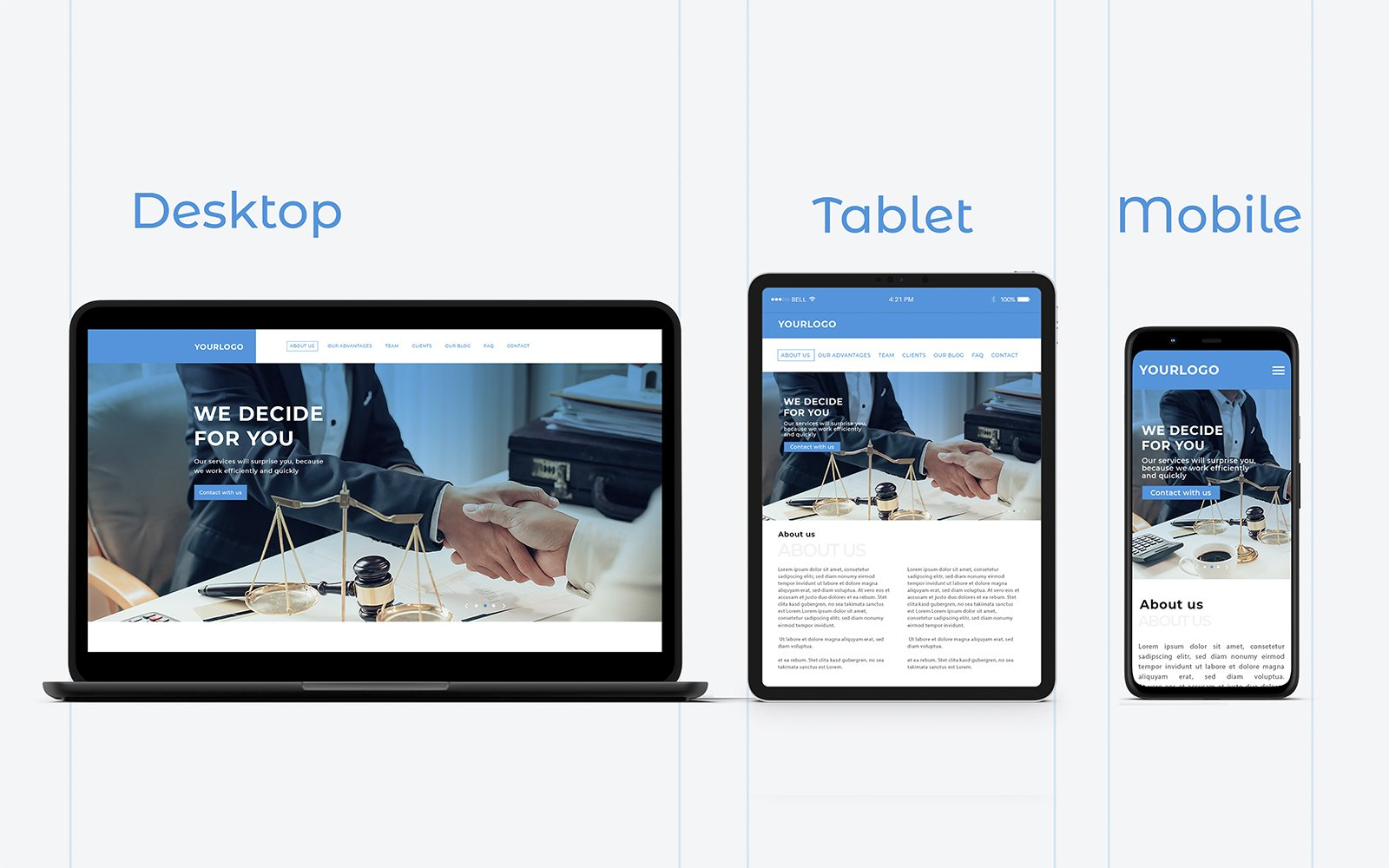 """Template PSD Bootstrap #110416 """"Lawyer Landing Page PSD"""""""