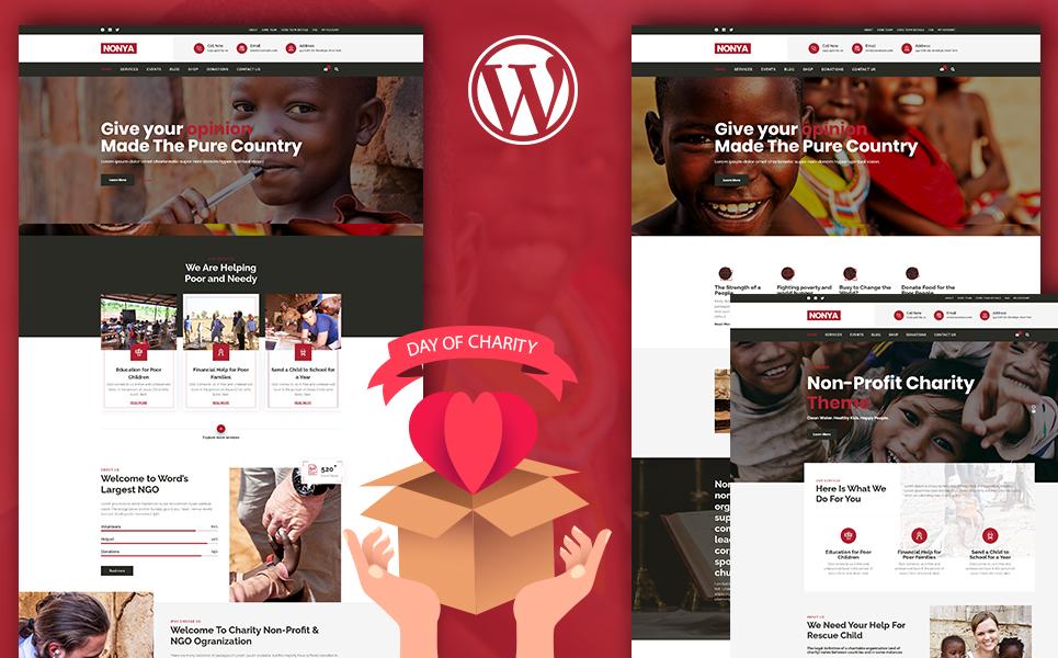 "Template WordPress Responsive #110428 ""Nonya - Nonprofit"""