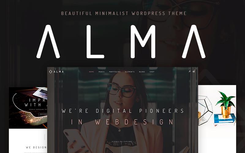 """Alma - Minimalist"" Responsive WordPress thema №110517"